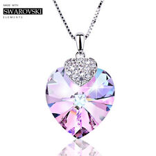 Le Papillion Fine Jewelry Women Necklace Made With Swarovski Crystal Heart Shape