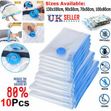 10x STRONG VACUUM STORAGE SPACE SAVING BAGS VAC BAG SPACE SAVER VACCUM VACUM BAG