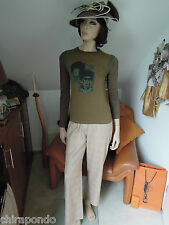 Custo Barcelona Top Shirt Gr. 40 khaki Jimmy Hendrix ? Jenis Joplin ? POP