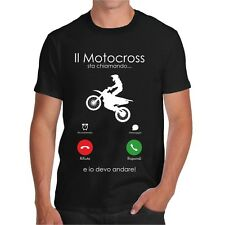 T-SHIRT IL MOTOCROSS STA CHIAMANDO MAGLIETTA DIVERTENTE TSHIRT HAPPINESS IPHONE