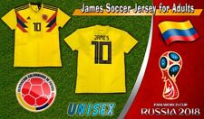 Colombia Yellow Women Soccer Jersey James #10 World Cup Russia 2018