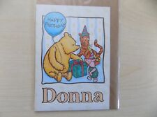WINNIE THE POOH PERSONALIZED BIRTHDAY CARD - DONNA, EDWARD, ELEANOR