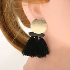 Boucles d'oreilles Vintage Thread Woolen Tassel Fringe Femmes Drop Dangle