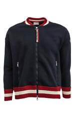 Moncler Baseball Jacket (Blue, Red; Cotton)