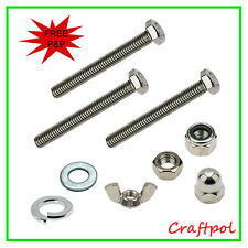 M5x10mm Hex Head Set Screw. Select your washer & nut
