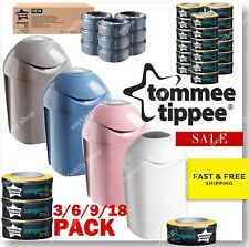 Tommee Tippee Sangenic Tec Baby Nappy Diaper Disposal Bin Refill Cassettes Pack