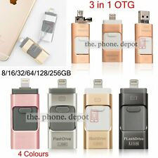 64 128 256GB USB i Flash Drive OTG Device Memory Stick For iPhone IOS Android