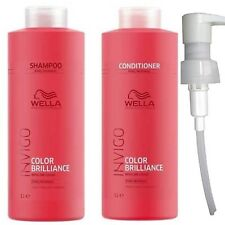 WELLA Brilliance Invigo Shampoo / Conditioner 1000ml | Fine/Normal Course/Thick