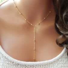 NEW Beads Pendant Drop Charm Gold Silver Necklace Chain Women Fashion Jewelry