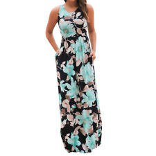 Summer Casual Clothing Sexy Womens Sleeveless Beach Long Dress Elegant Ladies