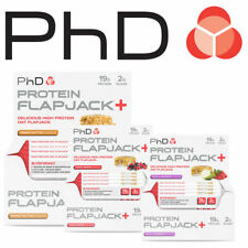 PHD Nutrition Protein Flapjacks 75g Bars Protein Various Sizes Oats Bars