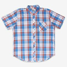 Brutus Mens Orange Check Short Sleeve MOD SKA Skinhead Retro Shirts