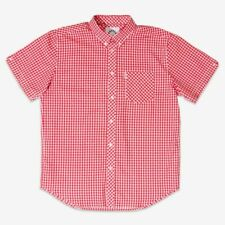 Brutus Mens Red Gingham Short Sleeve MOD SKA Retro Skinhead Shirts