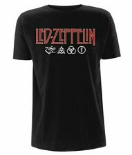Led Zeppelin Logos and Symbols T-shirt. 100% Official Merchandise