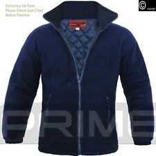 Mens Padded Quilted Jacket Thick Anti Pill Fleece Winter Warm Casual Coat Large