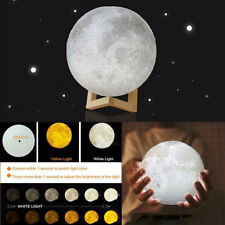 3D Printing Magical LED Luna Night Moon Lamp Light Desk USB Charging Touch Gift