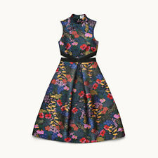 Erdem H&M Floral Jacquard Patterned Dress With Grosgrain Bow UK 6 8 10 12 14 16