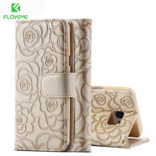FLOVEME Mobile Phone Case For Galaxy Note 5 Women Wallet Leather Ultra Flip
