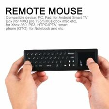 Smart 2.4GHz Wireless Fly Mouse Remote Control Mini Keyboard & Touchpad Comb NEW