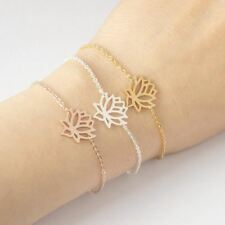Rose Gold Spiritual Lotus Bracelets Stainless Steel Chain bracelet