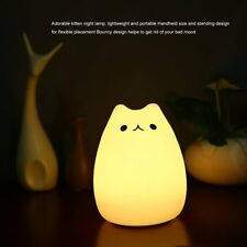 Rechargeable Colorful Silicone Animal Light with Cat Shape Touch Sensor Ligh NEW