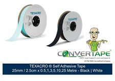 TEXACRO Brand fastener/Tape Self Adhesive By TOUCH fastener 25mm 2.5cm x 0.5-10m