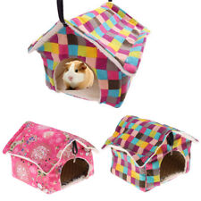 House Bed For Small Animal Pet Hamster Hedgehog Guinea Pig Nest Toy + Cool Mat