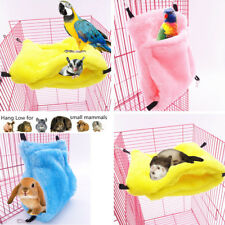 Small Animal Pet Hammock Cage Hanging Bed Nest For Rat Hamster Ferret Parrot