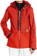 NEW BILLABONG SNOWBOARD SKI SNOW JACKET SMALL  S  4  8  AURORA 10K INSULATED RED