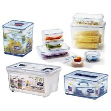 Premium Clear Plastic Airtight Leak Proof Food Container Boxes With Lockable Lid