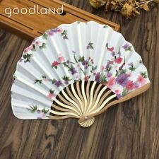 10pcs 23cm Japanese Chinese Flower Floral Fabric Cherry Blossom Design Hand Held