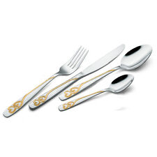 Gold Plated Stainless Steel Kitchen Pro Cutlery Set 16 24 32 48 Pieces New s1