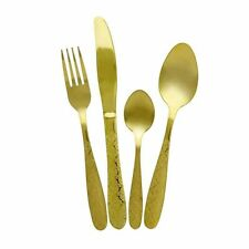 The Collection Royal Accent Gold Plated Stainless Steel 16 24 Piece Cutlery Set.
