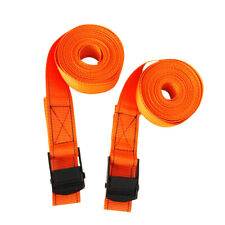 2 Pcs Cam Tie Down Straps for Canoe, Kayak, Surfboard on roof racks or trailers