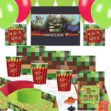 Pixel TNT Party Kit 3 For 8 To 16 Children | Minecraft Poster | Party Bags