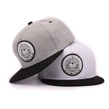 Cotton snapback 3d god eyes plastic patch mens flat brim baseball cap hip hop ha