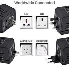 Universal Travel Adapter Power All-in-one Plug 3.4A 4 USB Ports Wall Charger