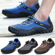 Mens Mesh Breathable Water Shoes Sneakers Hiking Trail Running Sport Trainers