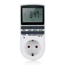 Rechargeable Digital LCD Plug-in Programmable 12/24 Hour Timer Switch Socket