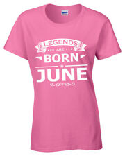 June Legends Are Born Camiseta Mujer Regalo de Cumpleaños Divertido Idea