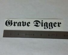 GRAVE DIGGER Vinyl DECAL STICKER BLK/WHT/RED Heavy Power Metal BAND Logo Window