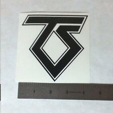 TWISTED SISTER Vinyl DECAL STICKER BLK/WHT/RED Heavy Metal BAND Logo Window LP