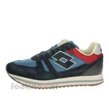 Scarpe Lotto Leggenda Rhazhe T4600 Uomo Retro Running Navy Blue Sneakers Casual