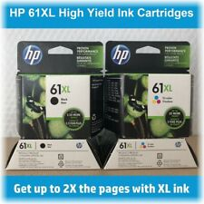 HP 61XL High-Yield Single Ink Cartridge in Box (Black or Tri-Color), EXP 2020 !