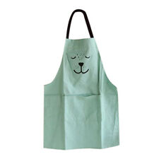 Cartoon Apron with Front Pocket for Chefs Butcher Kid Kitchen Cooking Baking