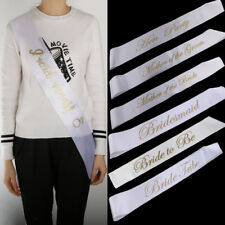 Bridesmaid Bride Tribe Hen Party Sashes Girls Night out Accessory Wedding Sash