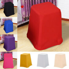 1 x Square Swivel Bar Stool Cover Elastic Skirt Sleeve for Chair Seat Stools