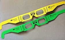 Fireworks 3D Glasses Neon Yellow Green Parties Discos Raves Events Light Shows