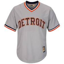 Majestic Detroit Tigers Cooperstown Cool Base MLB Camiseta Gris