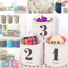 Foldable Multi-Type Storage Bin Closet Toy Box Container Organizer Fabric Basket